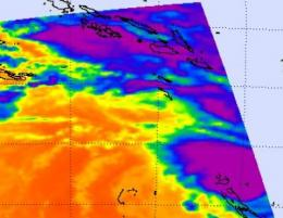 NASA sees cyclone Jasmine's power and new eye