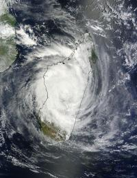 NASA sees deadly Cyclone Giovanna over the center of Madagascar