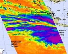 NASA sees development of tropical storm 09S in southern Indian Ocean