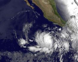 NASA Sees Eastern Pacific's Second Tropical Storm Form