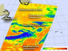 NASA sees first Atlantic hurricane fizzling in cool waters