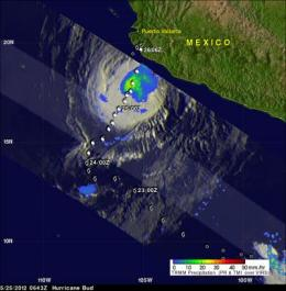 NASA sees Hurricane Bud threaten western Mexico's coast