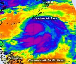 NASA sees powerful Typhoon Guchol affecting Kadena Air Base