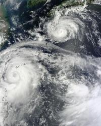 NASA sees twin typhoons headed for double China landfall