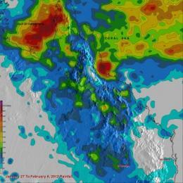 NASA's TRMM satellite measures flooding rains from Australia monsoon