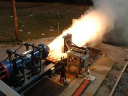 NASA sub-scale solid-rocket motor tests material for space launch system