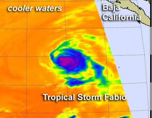 NASA watching Tropical Storm Fabio head to southern California