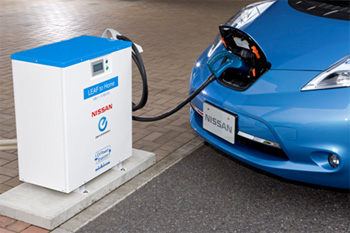 Nissan and Nichicon team up to use Leaf battery to power home