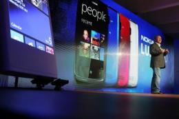 Nokia Chief Executive Stephen Elop introduces the new Nokia Lumia 920 and 820 Windows smartphones
