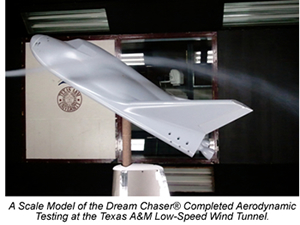 Orbital crew vehicle tested in Texas A&M's low-speed wind tunnel