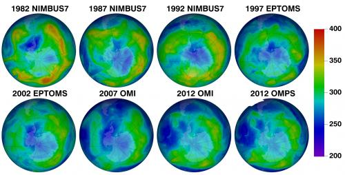 Ozone suite on Suomi NPP continues more than 30 years of ozone data