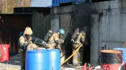 Stress alarm for smoke-divers