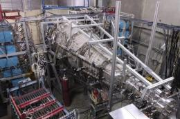 Part of an experimental nuclear reactor at the General Fusion laboratory in Burnaby, Canada