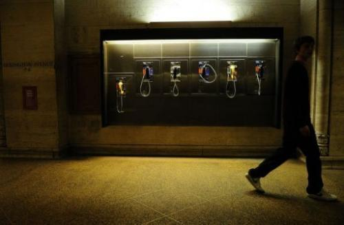 Pay phones in New York's Grand Central Station