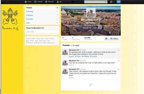 Pope hits 1M mark as he tweets: 'Dear Friends... '