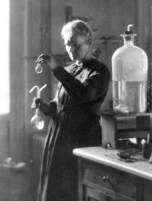 Professor Marie Curie works in her laboratory at the University of Paris in 1925