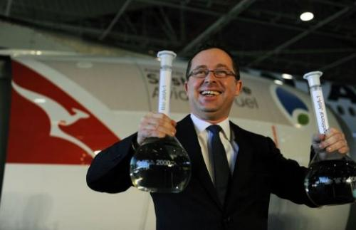Qantas chief executive Alan Joyce says the airline has to get ready for a future not based on traditional jet fuel