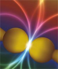 Quantum 'kisses 'change the color of space