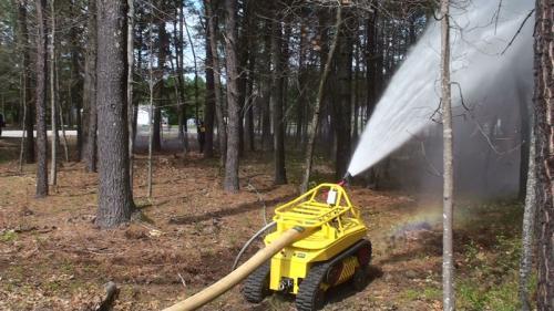 Robot firefighters help mitigate hazardous conditions