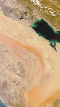 Satellite captures images of sandstorm