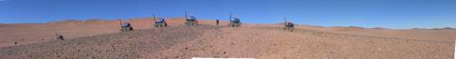 ESA tests self-steering rover in 'Mars' desert