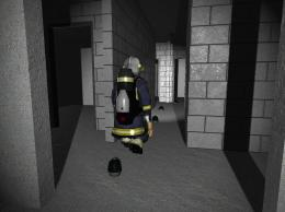 Simulating firefighting operations on a PC