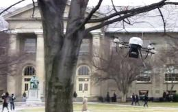 Smart as a bird: Flying robot avoids obstacles