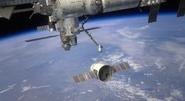 Space station crew anticipating SpaceX dragon's arrival