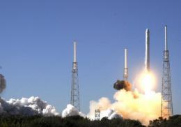 SpaceX's Falcon 9 rocket lifts off in 2010