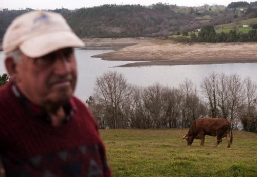 Spain's reservoirs are only two-thirds full, meaning less water for the fields where crops grow and animals graze