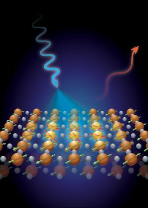 Spin waves revealed in two-dimensional high-temperature superconductors