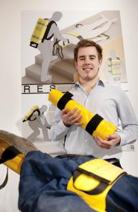 Student's 'emergency stretcher' invention could prove a lifesaver