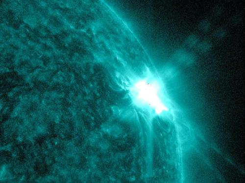 Sunspots and solar flares