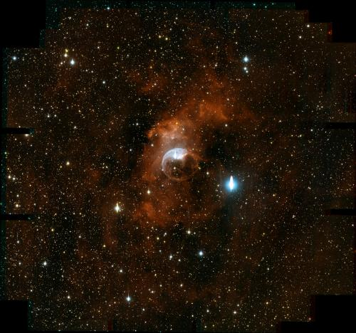 The Bubble Nebula, observed with the new One Degree Imager Camera