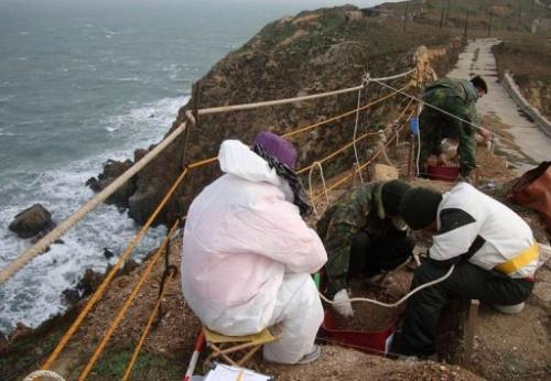The burial site on Liang Island was discovered purely by chance