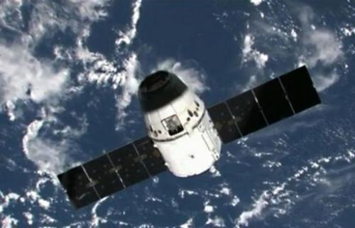 The Dragon capsule is set to slash down in the Pacific Ocean off California Thursday at 1444 GMT