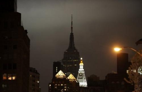 The Empire State Building (C) turns off its lights
