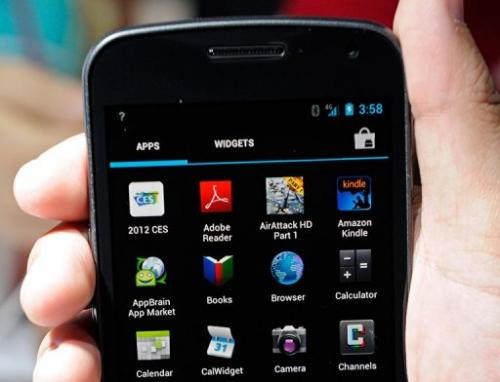 The Galaxy Nexus smarthphone