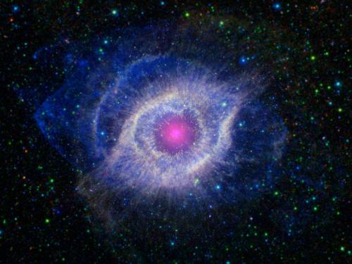The helix nebula: bigger in death than life