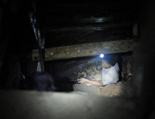 The mine tunnel at Mount Diwata has earned a reputation as a lawless