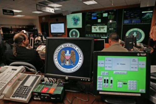 The National Security Agency Threat Operations Center at Fort Meade, Maryland