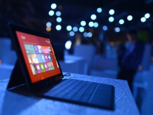 The new Microsoft Surface tablet on display in New York in October