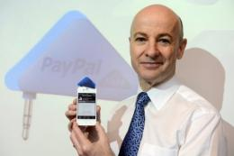 The PayPal Here system uses a triangular
