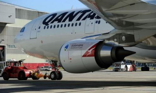 The Qantas flight from Sydney to Adelaide and return used a fuel type derived from recycled cooking oil