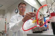 The research bench meets industry: new facility scales up production of battery materials