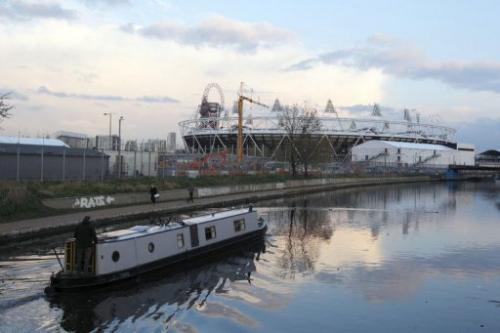 The River Lea, close to the Olympic stadium, has been cleaned up ahead of the Games