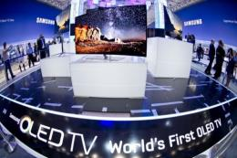 The Samsung booth during the 52nd edition of the