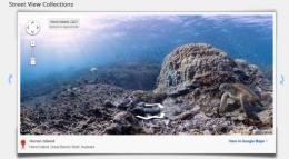 The underwater locations covered by Google Maps include the Great Barrier Reef, the Molokini Crater, and the Apo Islands