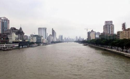 This general view shows the Pearl River