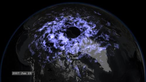 Tracking shuttle exhaust reveals more information about atmospheric winds